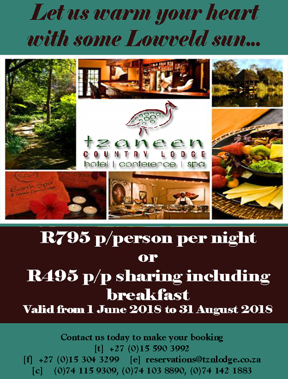 Tzaneen Country Lodge Winter 2018